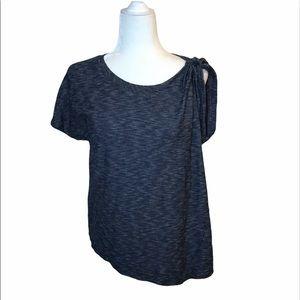 Anthropologie Deletta Asymmetrical Blue T-Shirt XS
